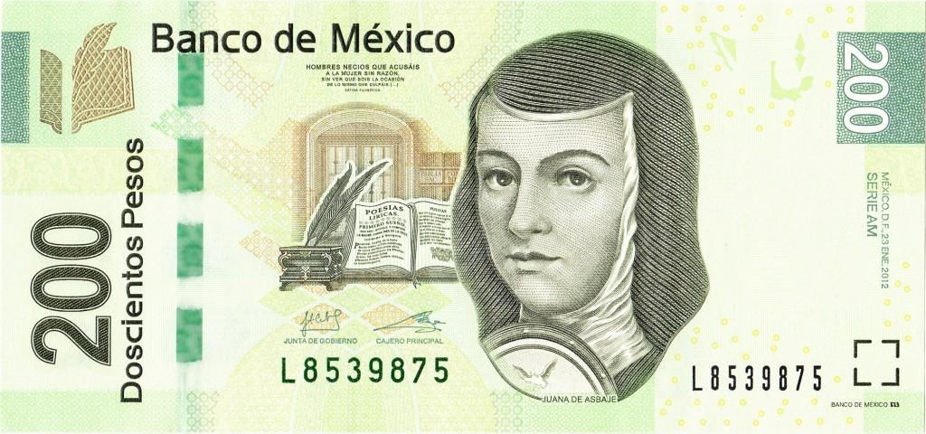 200 песо с Хуаной де Асбахе