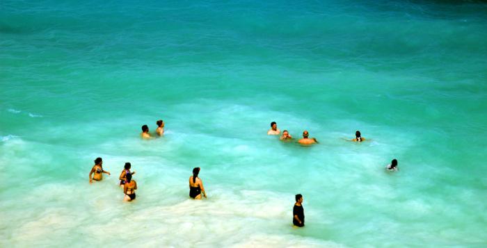 Классная погода на Карибском побережье Мексики. Канкун.