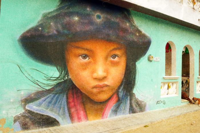 Настенный портрет на острове Хольбош