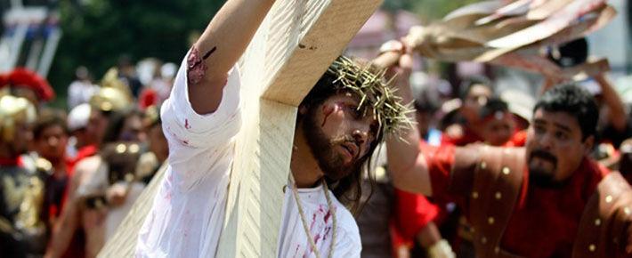 Постановки религиозной тематики в страстную неделю в Мексике