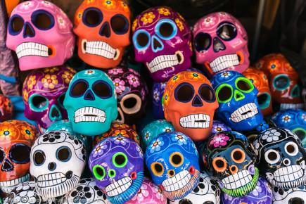 Черепушки ко дню Мертвых в Мексике