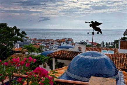 Вид на туристическую зону Пуэрто Эскондидо
