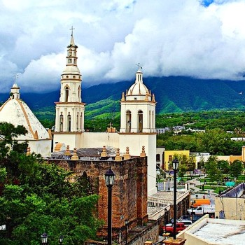 Городок Вийя Де Сантьяго в штате Нуэво Леон
