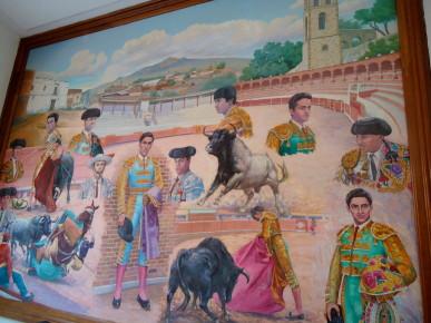 Музей Корриды в Уамантле представлен различными картинами из жизни мексиканцев