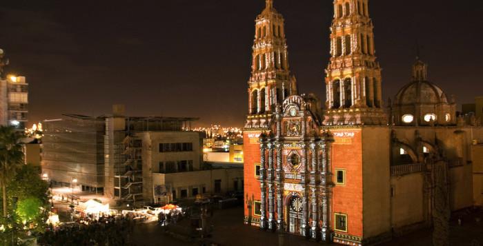Вечерняя иллюминация в самом опасном городе планеты. Сиудад Хуарес, Чиуауа, Мексика