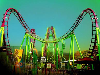 Самый большой Парк Аттракционов Six Flags Mexico.