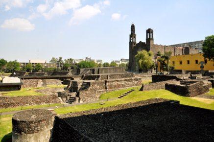 Знаменитая площадь трех культур в Мехико Сити