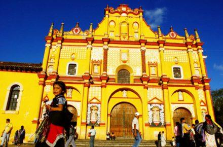 Кафедраль на центральной площаде Сокало, Сан Кристобаль де Лас Касас