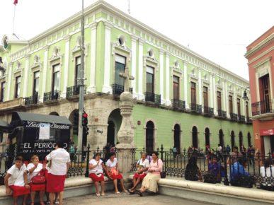 Колониальные улицы города Мерида, Дворец Губернатора, штат Юкатан