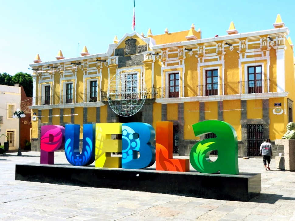 Яркий город Пуэбла