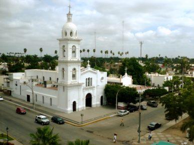 Белоснежный Кафедральный Собор, город Лос Мочис, Синалоа