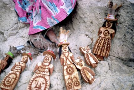 Tarahumara Wooden Dolls in Cavehouse