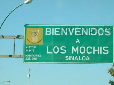 Добро пожаловать в город Лос Мочис, Синалоа Мексика
