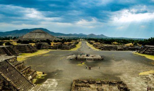 Дорога смерти или Мишкоатли ведущая от пирамиды Луны к Цитадели города Теотиуакан