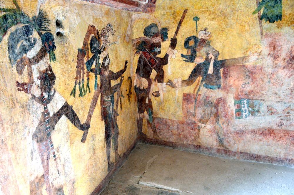 Город Бонампак в переводе означает Раскрашенные стены. Фрески в Храме Фресок