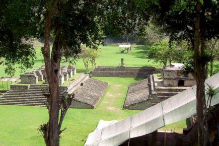 Руины древней цивилзации майя Копан, Гондурас