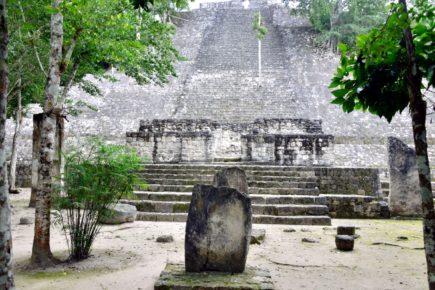 Столица Канульскоо царства, главная пирамида города Калакмуль