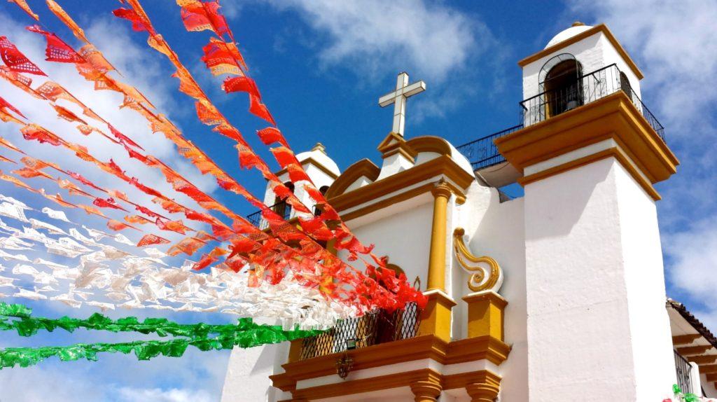 Церковь Святой Гваделупе, туристический город Сан Кристобаль де Лас Касас, штат Чиапас