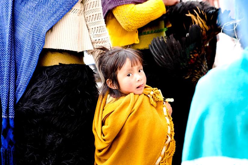 Девочка индейского племени Цоциль, прямой потомок индейцев майя. Сан Кристобаль де Лас Касас, Мексика