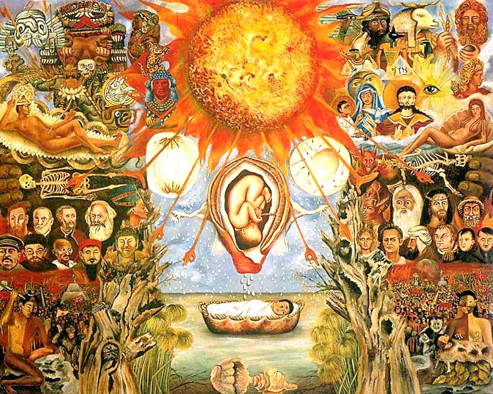 Идеология Фриды Кало, картина Моисей Ядро Создания.