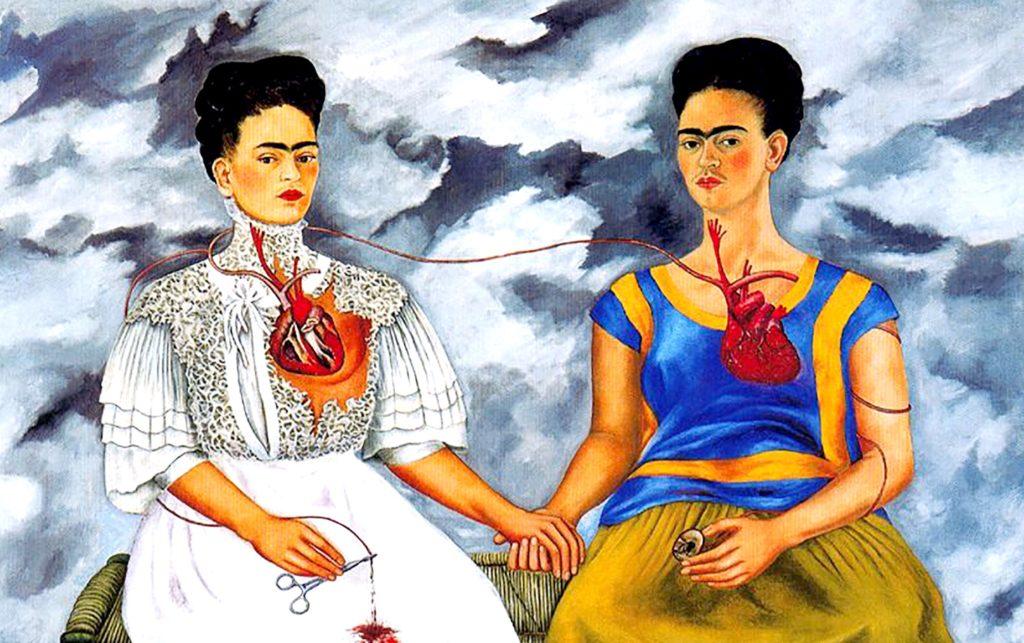 Картина Фриды Кало - Две Фриды, дом музей Фриды, район Койоакан, Мехико сити