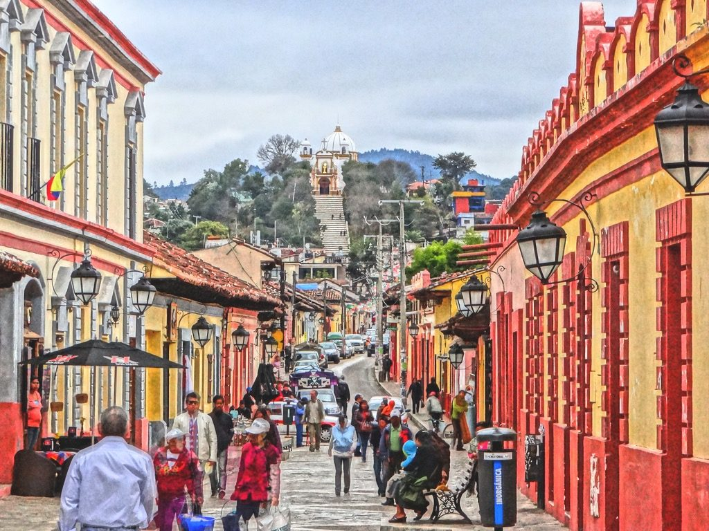 Пешеходная улица города Сан Кристобаль