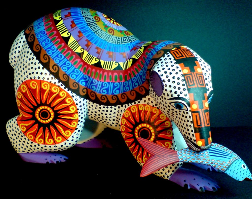 Папье маше игрушки Алебрихе - современное ремесло мексиканцев, Мексика