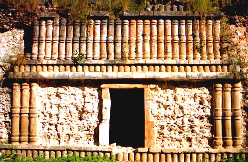 Техника коц-пооп стил Пуук применяемый в строительстве древнего города Кабах, Мексика