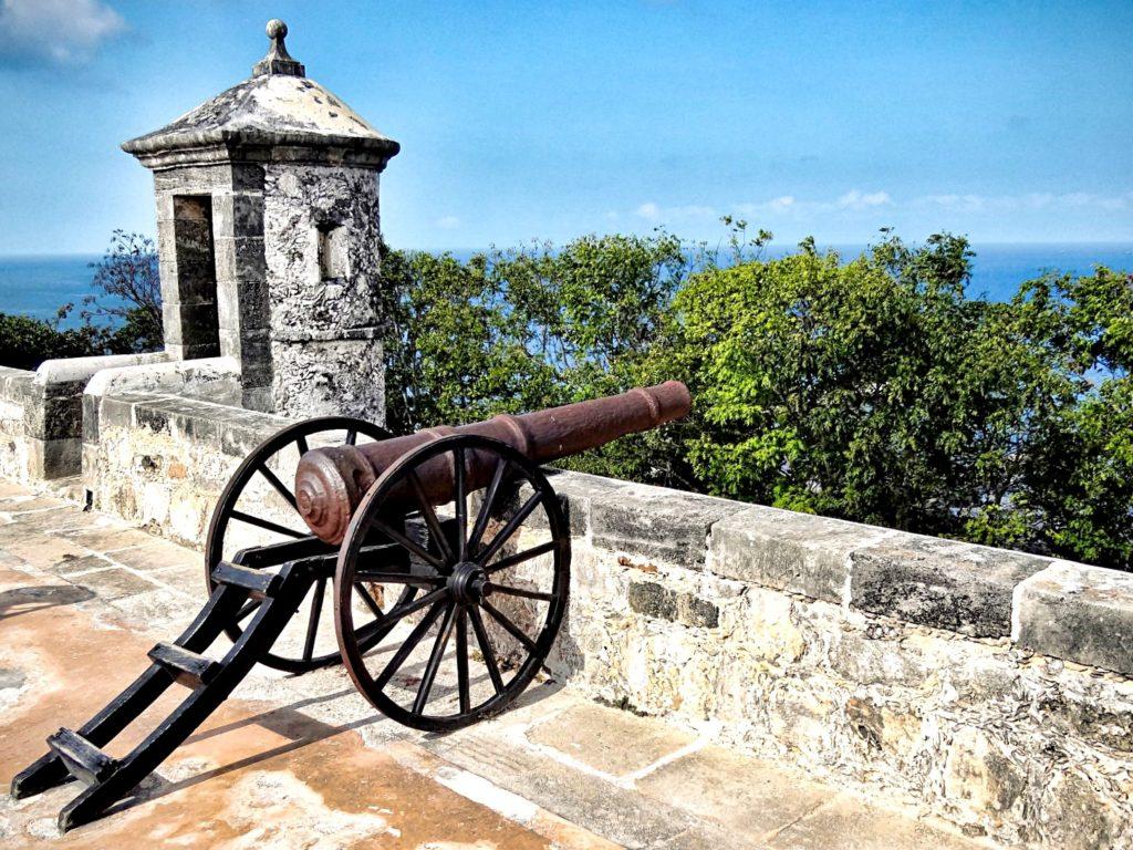 Южный форт Сан Мигель внутри которого находится музей Майя. Кампече