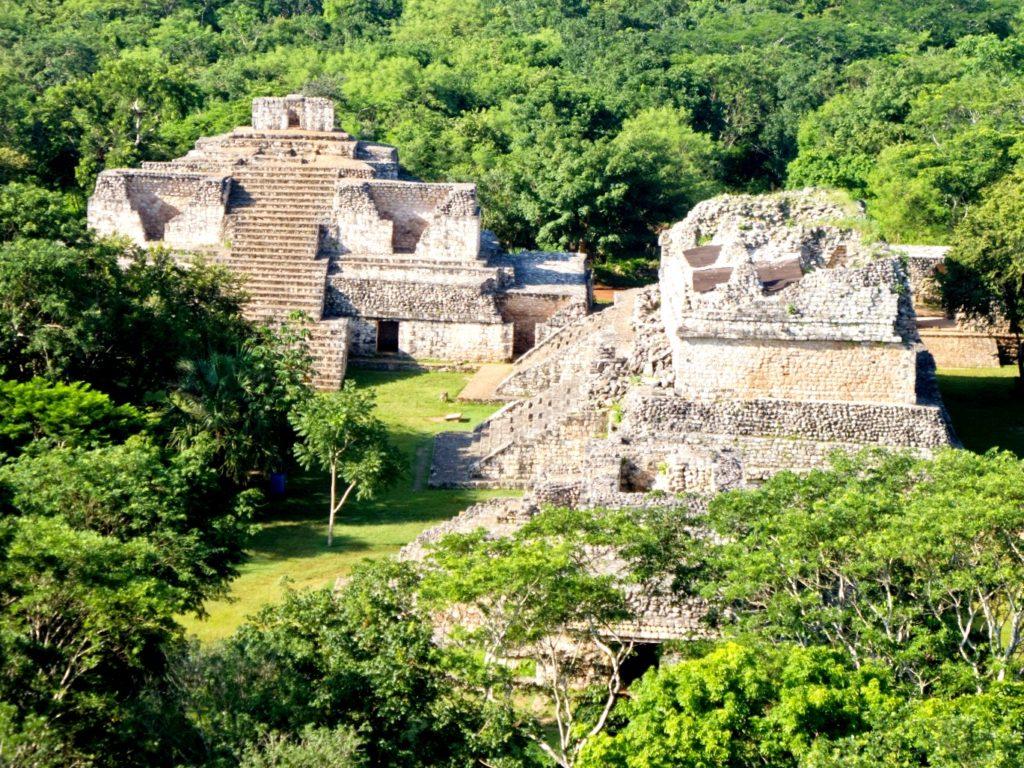 Пирамиды археологического комплекса Эк-Балам, полуостров Юкатан