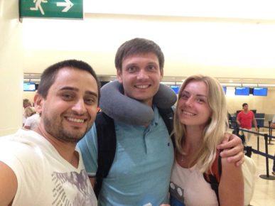Федя с супругой Ириной, прощание славянки в аэропорту!