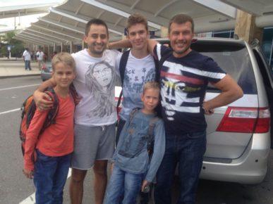 Моя литовская френд-команда! Денис, Никита, Нил, Ваня!