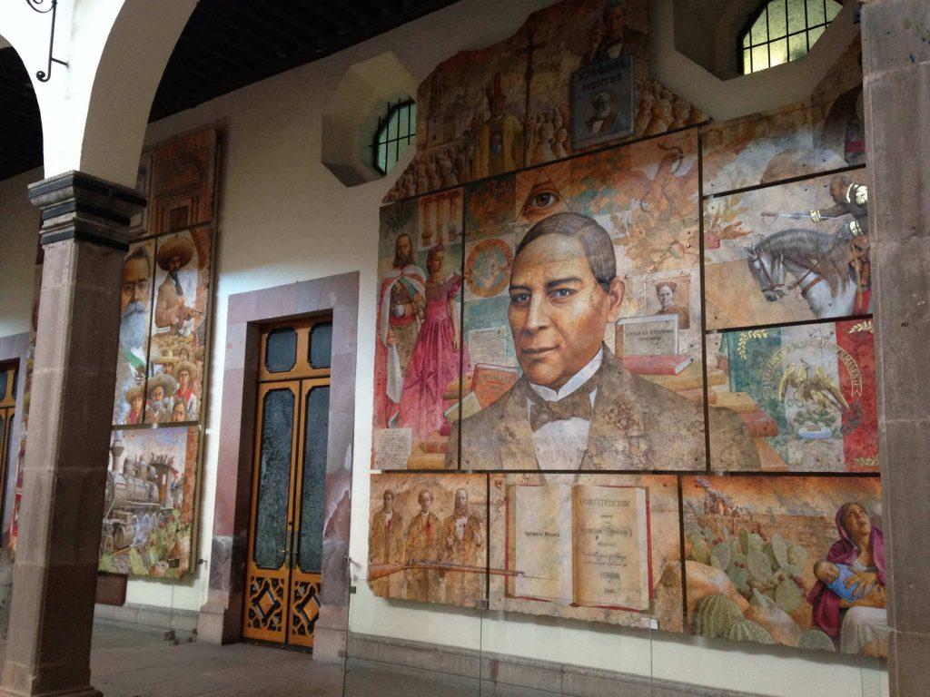 Бенито Хуарес в исполнении художника Диего Риверы в Правительственном учреждении Керетаро