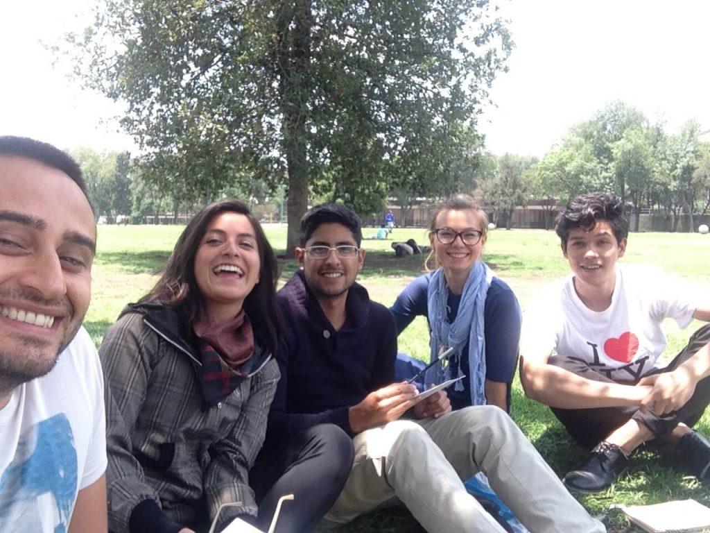 Фото на память со студентами архитектурного факультета НАУМ