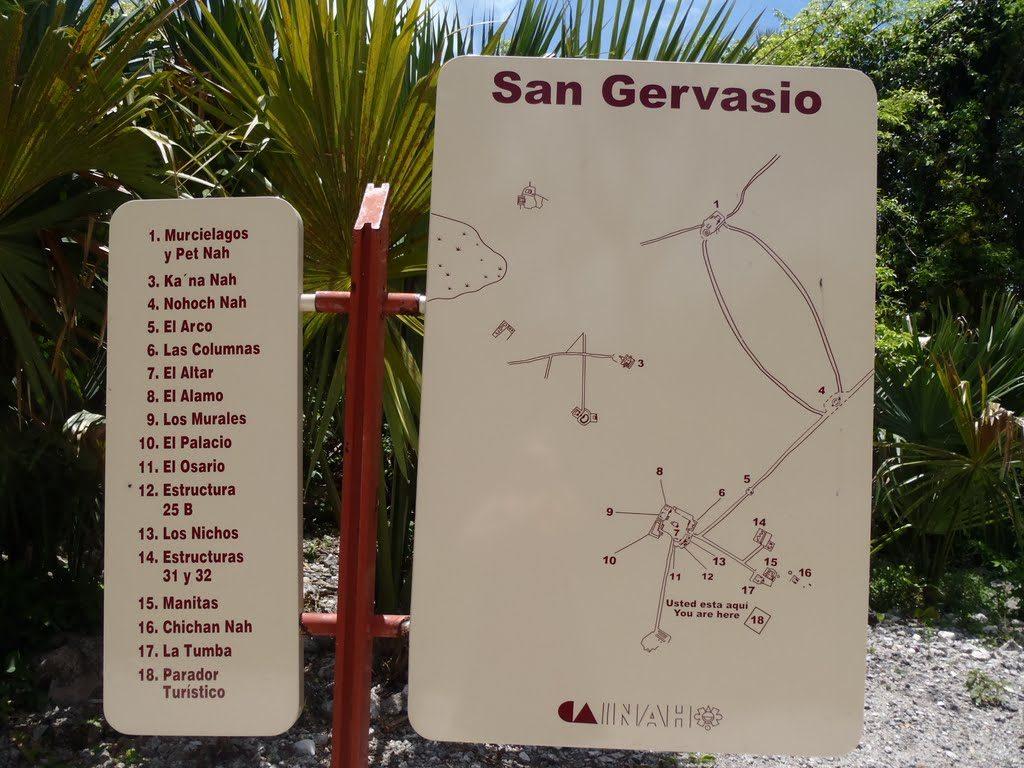 Располагается San Gervasio в 7 км от поселка Сан-Мигель.