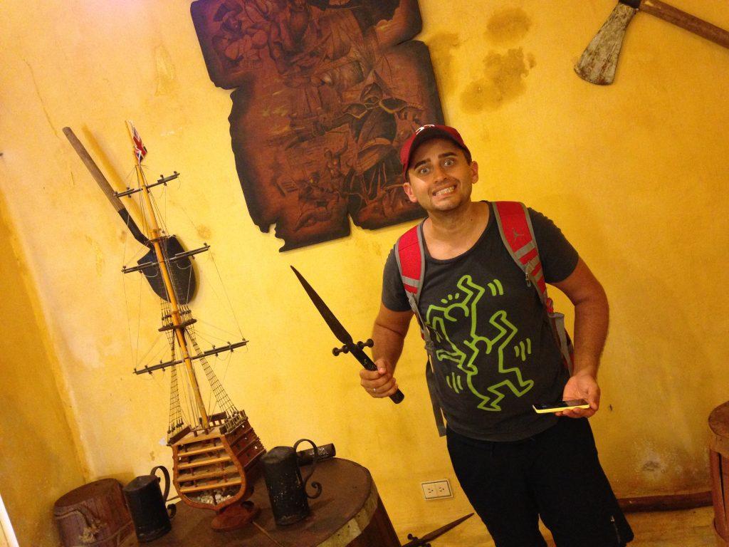 Арсен в музее пиратов, г. Кампече