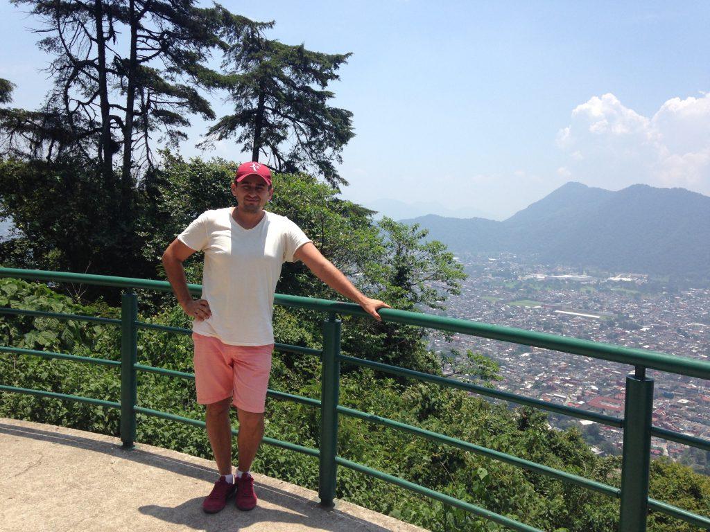 Вид на город Орисаба с парка Сьерро дель Боррего
