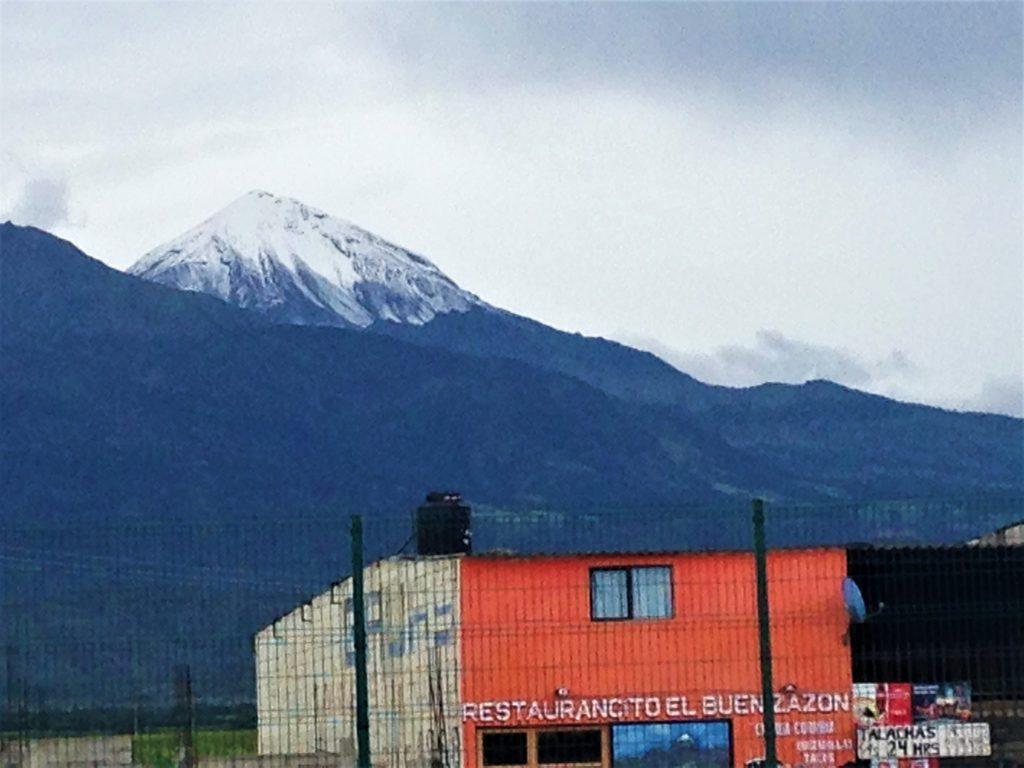 Капризная гора Орисаба показалась нам совершенно случайно и всего на 5 минут! Будем считать это удачей!