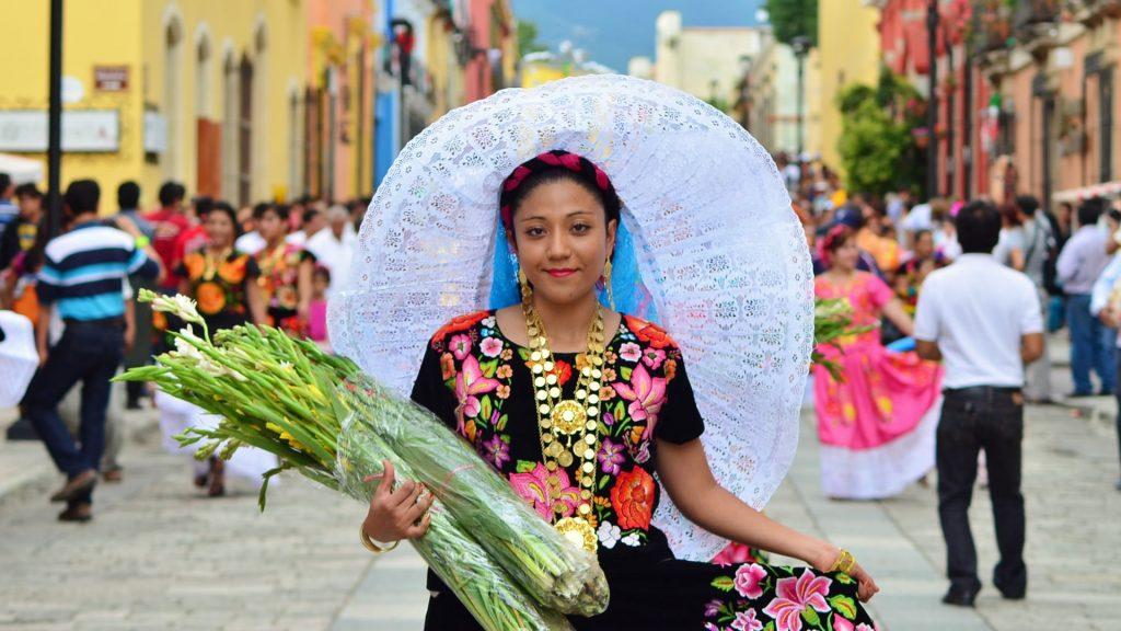 Национальная женская одежда майя в штате Чьяпас.