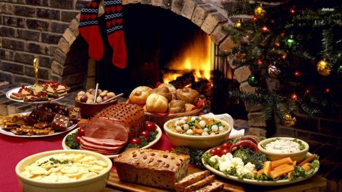 ужин на рождество