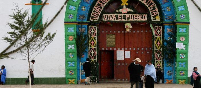 Церковь в Чамула, штат Чьяпас.