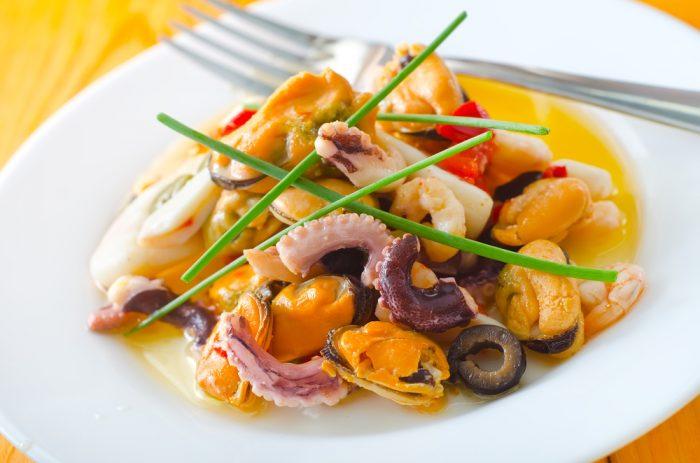 сальпикон из морепродуктов