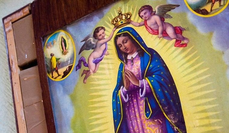 Героин в картине пресвятой Девы Марии