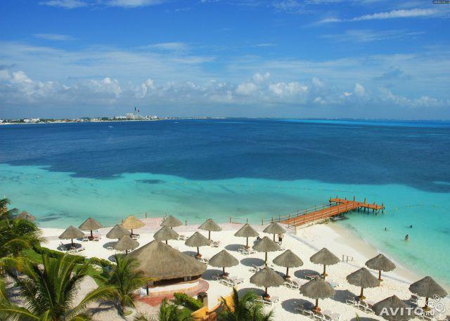 Мексика. Фото пляжа в марте. Канкун
