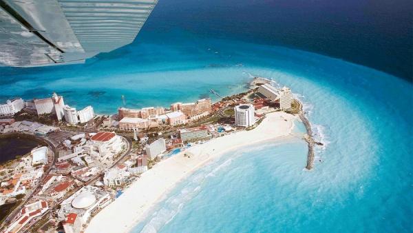 фото Канкуна с воздуха. Мексика