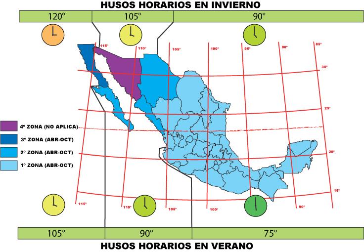 Разница во времени Мексика Канкун
