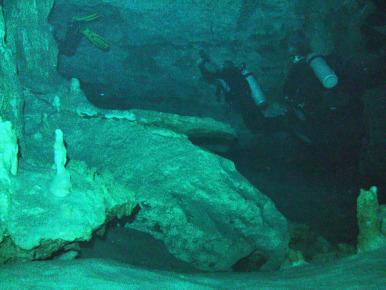 Дайвинг в пещерах