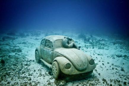 Авто под водой. Мексика