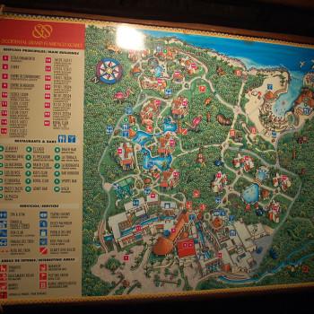 Карта парка Шкарет. Самая подробная карта парка. Что делать и куда идти в парке.