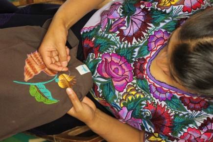 Вышивание гладью в Мексике
